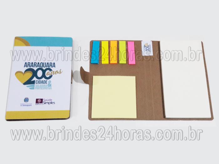 366264278 Bloco de notas Personalizado com post it Tamanho 10cm x 15cm Material  Ecológico ou revestido em